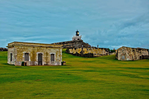 Fort San Felipe del Morro in Old San Juan, Puerto Rico, a UNESCO World Heritage Site.