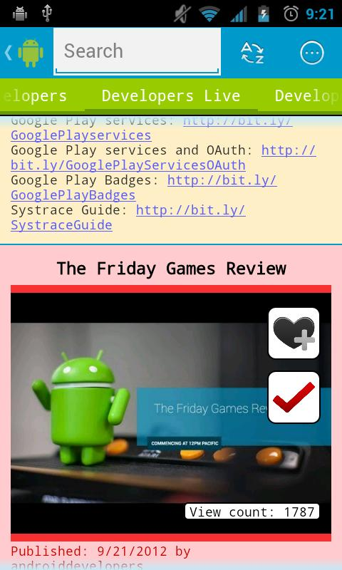 Android videos - screenshot
