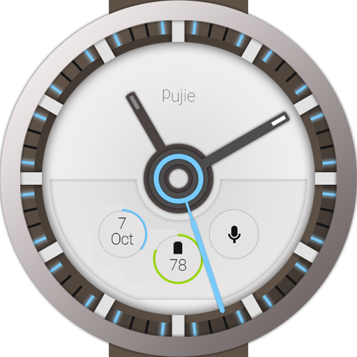 Pujie Blue Wear Watch Face Android Apps On Google Play