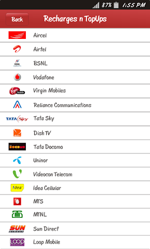 Prepaid Recharge - Mobile, DTH