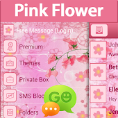 GO SMS Pro Pink Flower