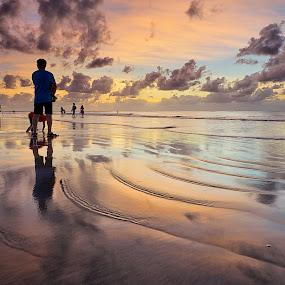 Kuta Magic by Christopher Harriot - Landscapes Beaches ( bali, sand, kuta, sea, beach, sun )