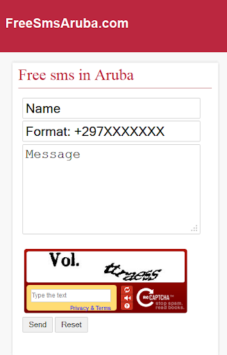 Free SMS Aruba