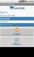 Screenshot of SalesPeople App