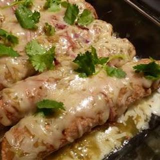 Easy Green Chile Chicken Enchiladas.