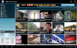 Screenshot of WKBW Eyewitness News Tablet