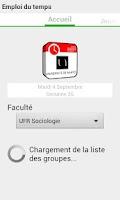 Screenshot of Emploi du temps Univ Nantes