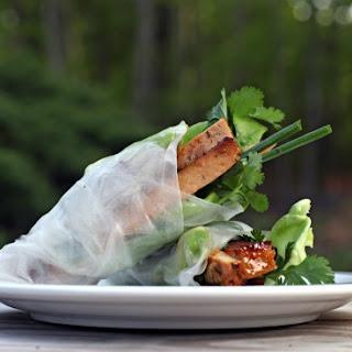 Tofu Spring Rolls.