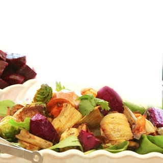 Roasted Winter Vegetable Salad with Balsamic Vinaigrette.