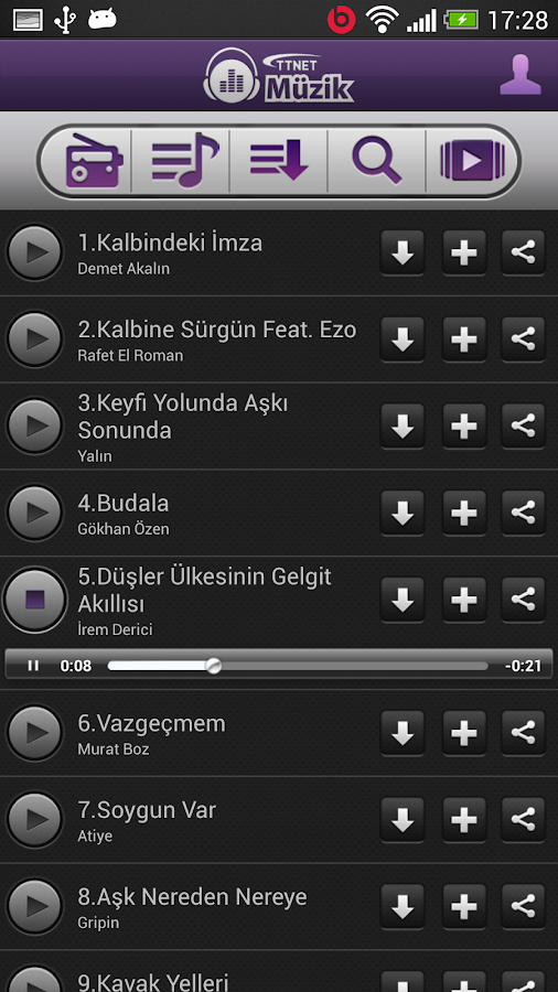 TTNET Müzik - screenshot