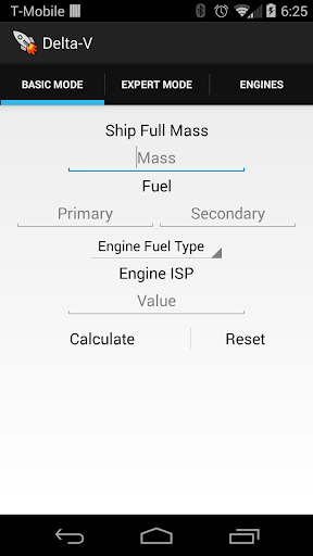 KSP Delta-V Calculator
