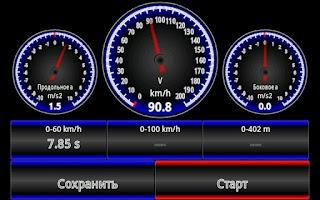Screenshot of Car Performance Meter