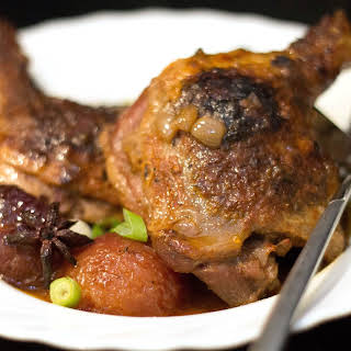 Slow Cooked Chinese Duck with Plums.