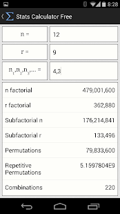 Stats Calculator Free - screenshot thumbnail