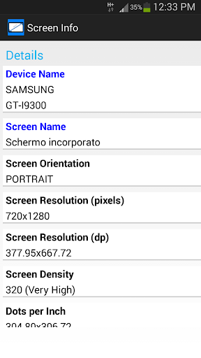 Screen Info