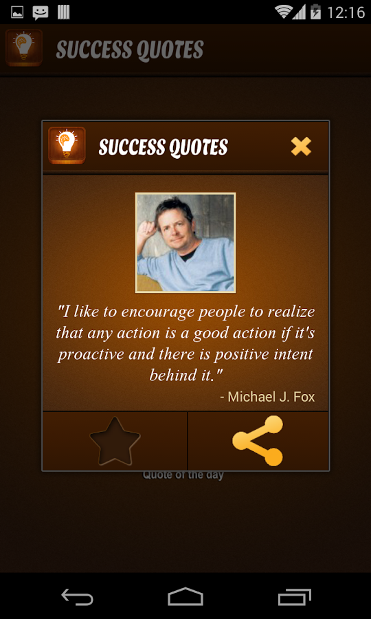 Daily Success Quote - screenshot