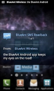 BlueAnt Android Application- screenshot thumbnail
