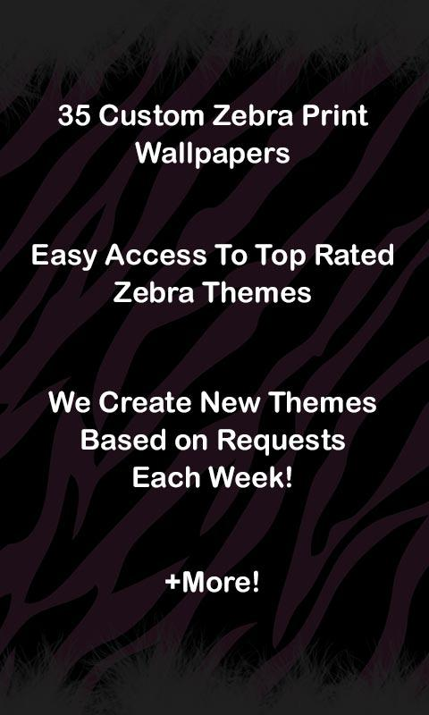 ★Custom Zebra Wallpaper Themes - screenshot
