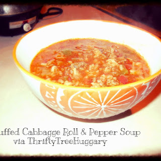 Unstuffed Cabbage Roll and Pepper Soup