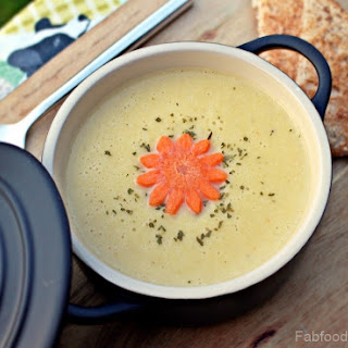 Cream of Leek, Potato & Carrot Soup