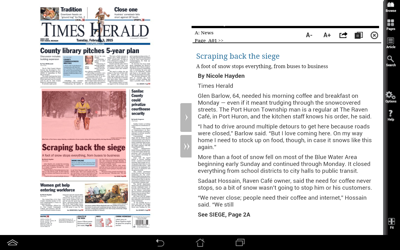 The Times Herald Print Edition- screenshot