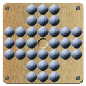Peg Solitaire (with solution!) icon