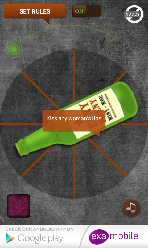 Spin the Bottle Kissing Game- screenshot