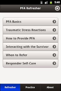 Psychological First Aid (PFA) - screenshot thumbnail