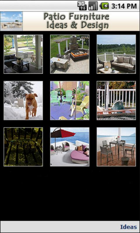 Patio Furniture Ideas & Design - screenshot
