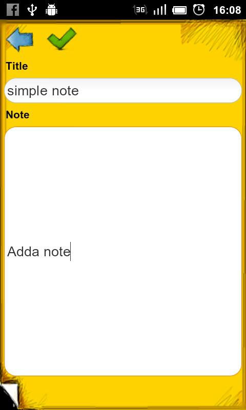 Simple Note Widget Pro - screenshot
