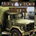 Army transport truck driver icon