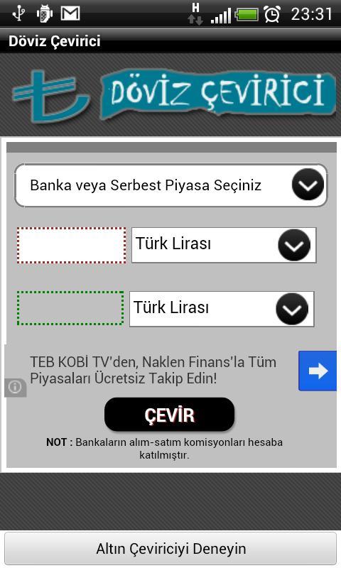 Döviz Çevirici (Anlık) - screenshot