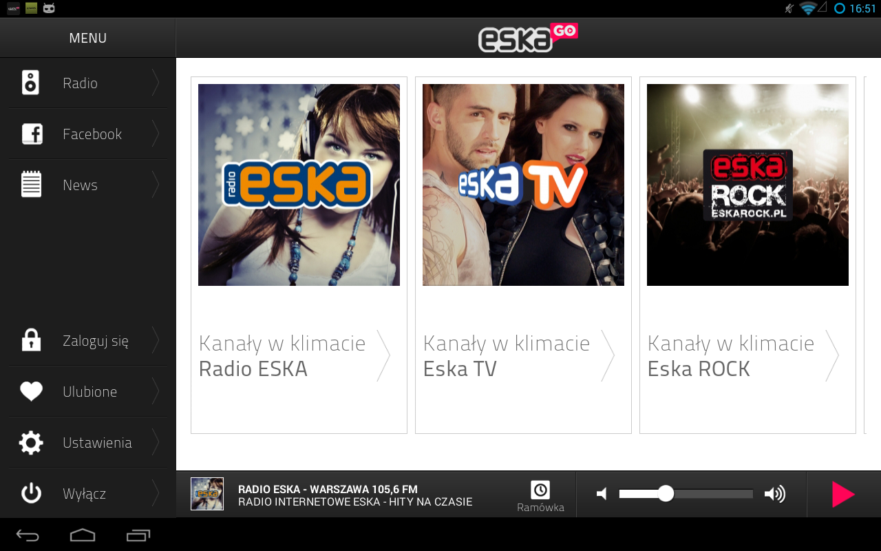 eskaGO - radio internetowe - screenshot