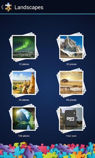 風景のジグソーパズル