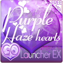 Purple Haze Heart GO Launcher logo