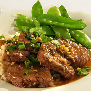 Pork Tenderloin Medallions with Chinese Ginger and Lemon Sauce.