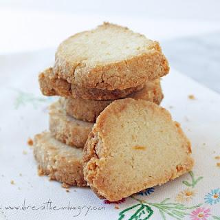 Lemon Almond Shortbread Cookies (LC & GF).