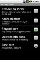 Screenshot of 0 Backup Silver