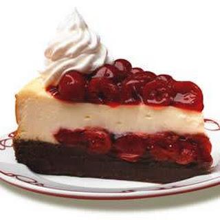 Cherry Chocolate Brownie Cheesecake.