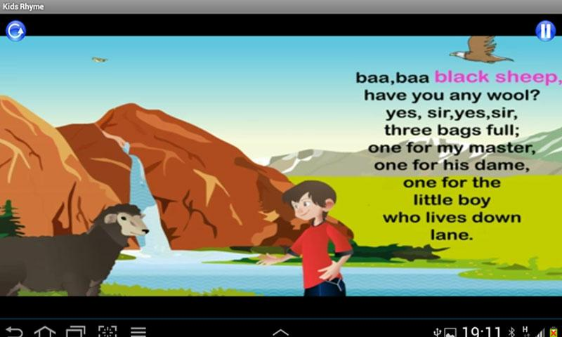 Kids Rhyme Baa Baa Black Sheep - screenshot