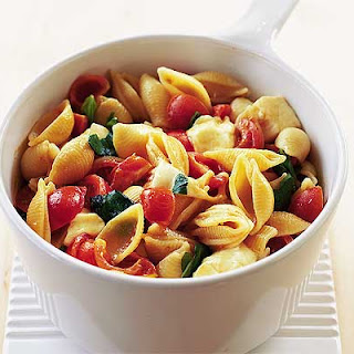 Shells with Balsamic Tomatoes & Mozzarella Recipe