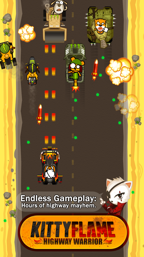 Kitty Flame: Highway Warrior - screenshot