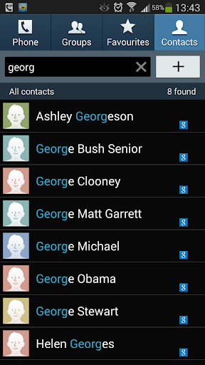 Contacts via Sms