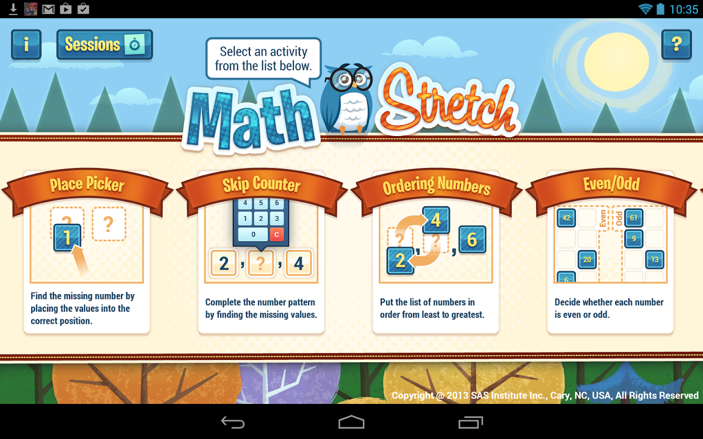 SAS® Math Stretch - screenshot