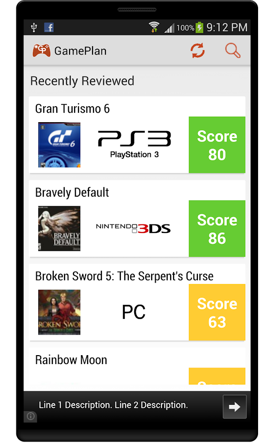 GamePlan: Games on Metacritic - screenshot