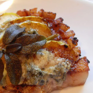 Pork Chops with Apples Sage and Stilton Recipe