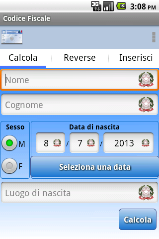 Codice Fiscale- screenshot