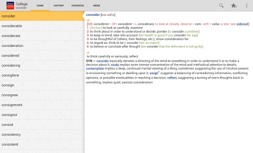 Webster's College DictionaryTR - screenshot thumbnail