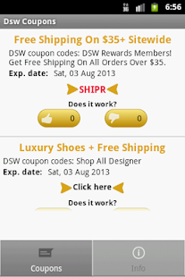 DSW Coupons - screenshot thumbnail