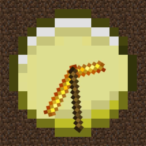 Gold Minecraft Watch Face LOGO-APP點子